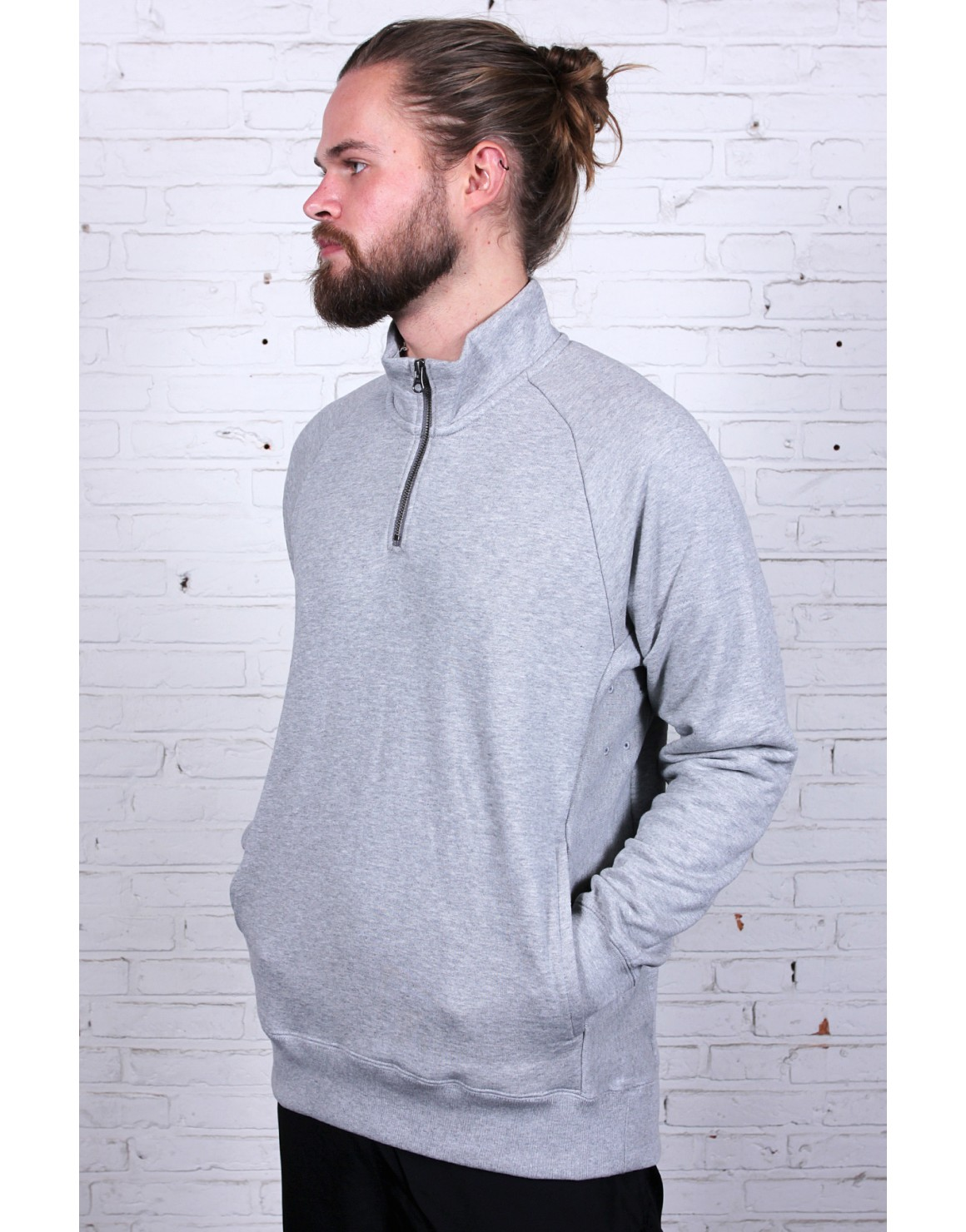 Top Everett Mock Half-zip