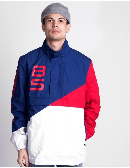 Retro Block Pullover Jacket