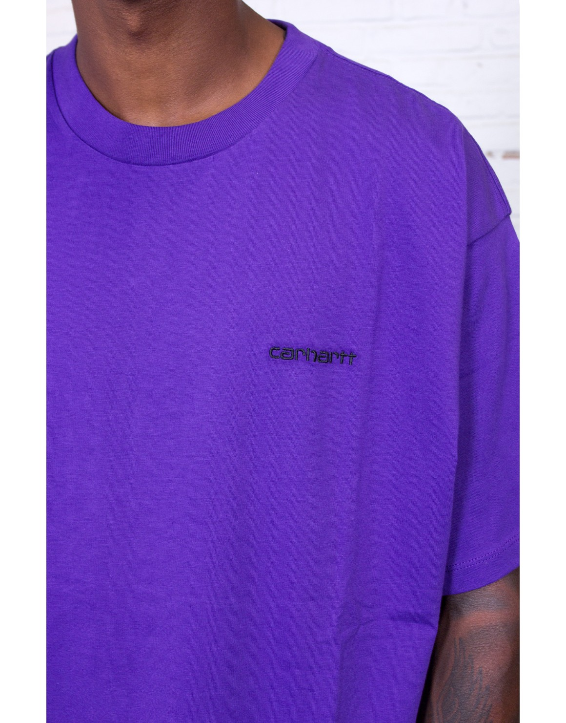 Script Embroidery T Shirt