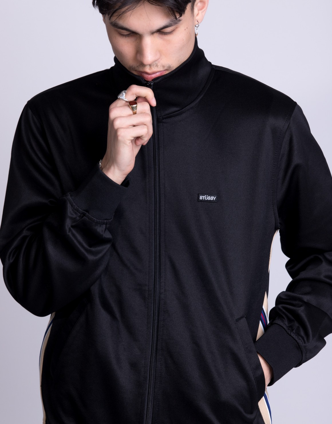Image of   Textured Rib Track Jacket