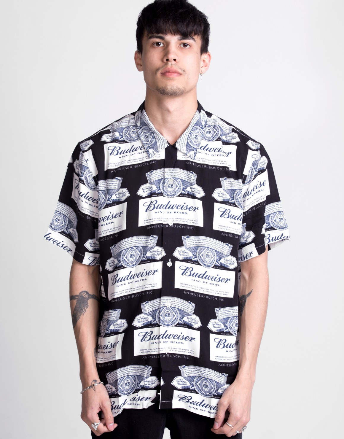 Image of   Budweiser Label S/S Shirt
