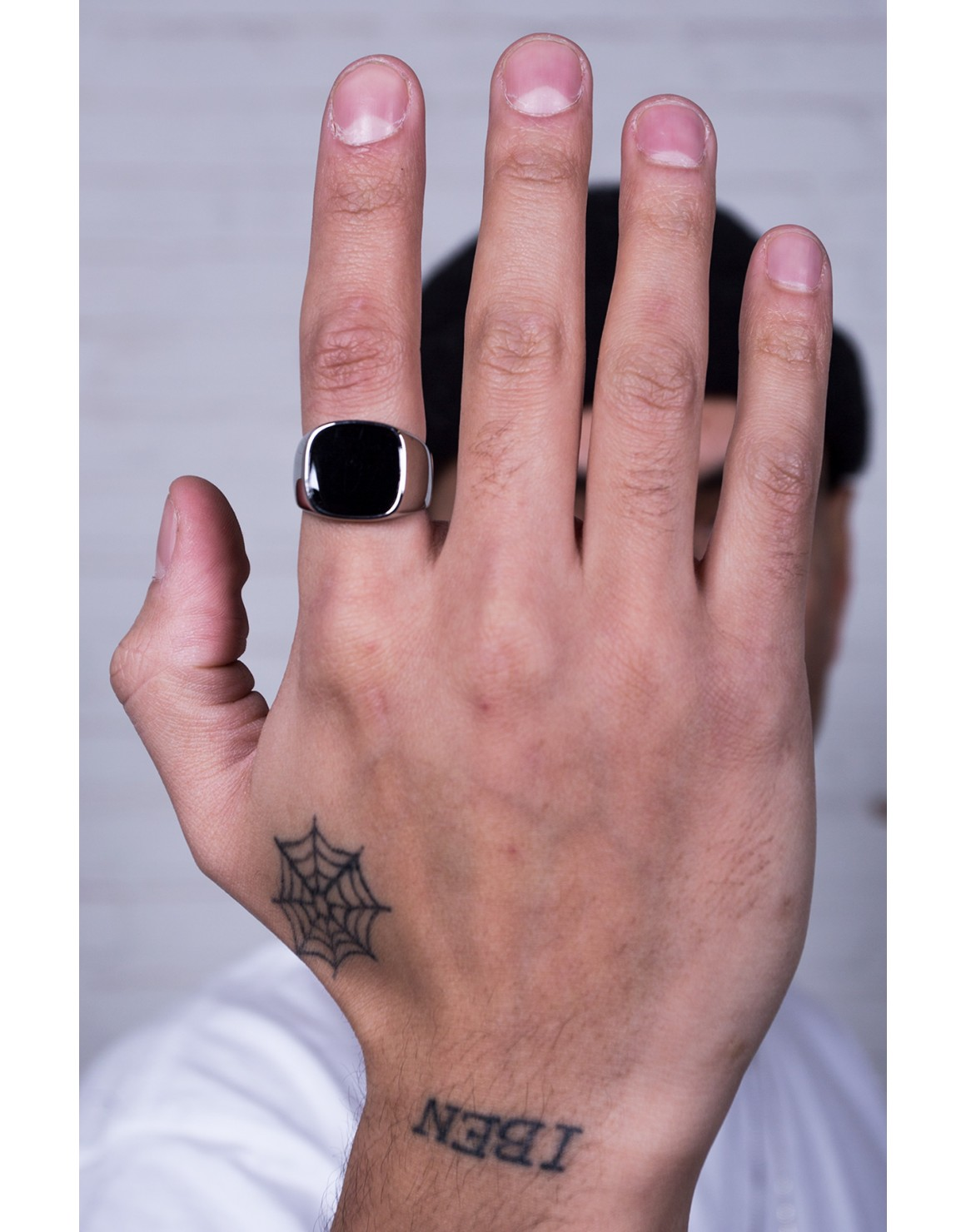 Black Top Square Ring