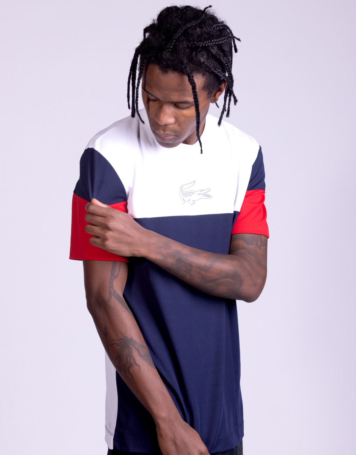 Crew Neck Colorblock Tech Tee