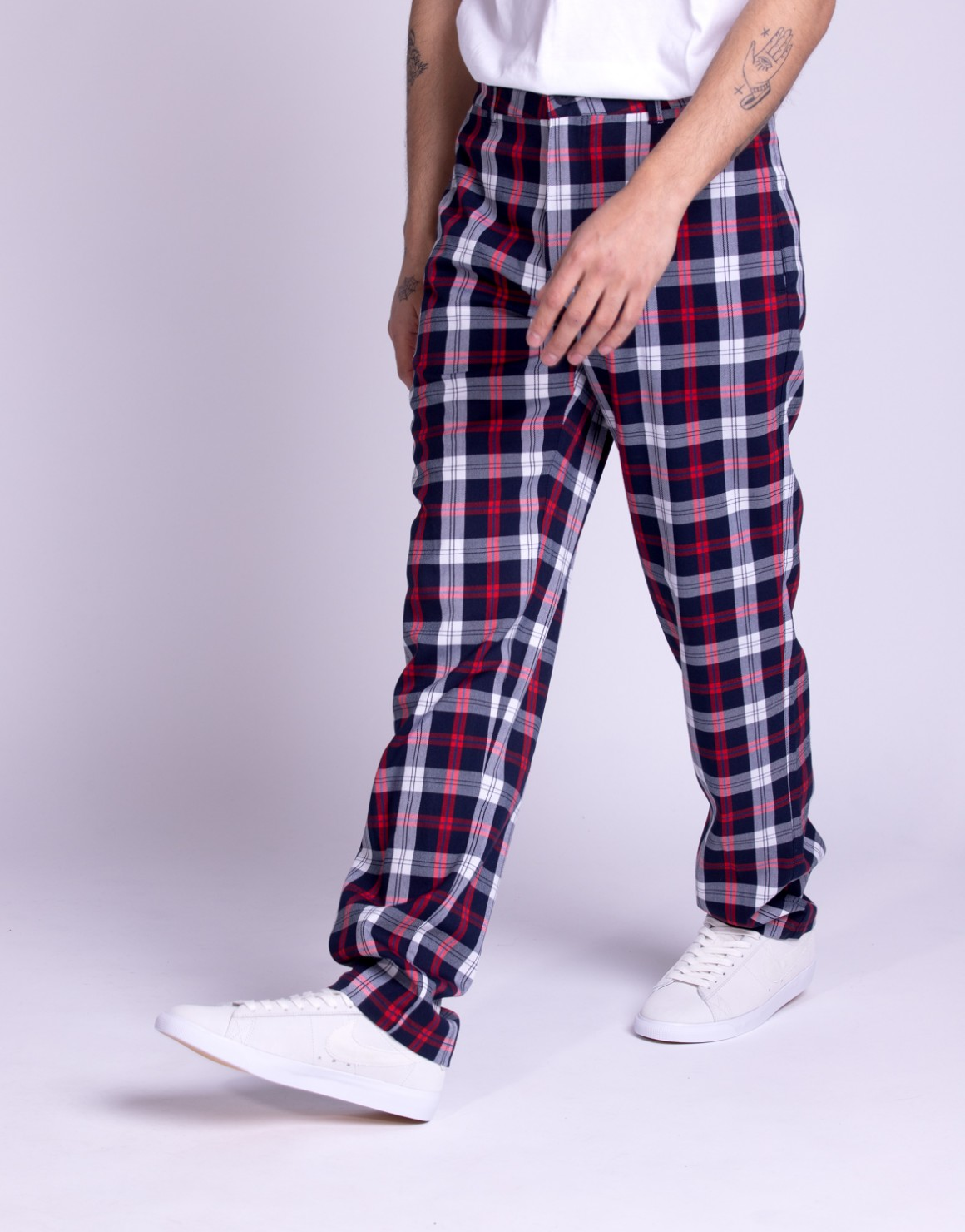 Image of   Plaid Check Chino
