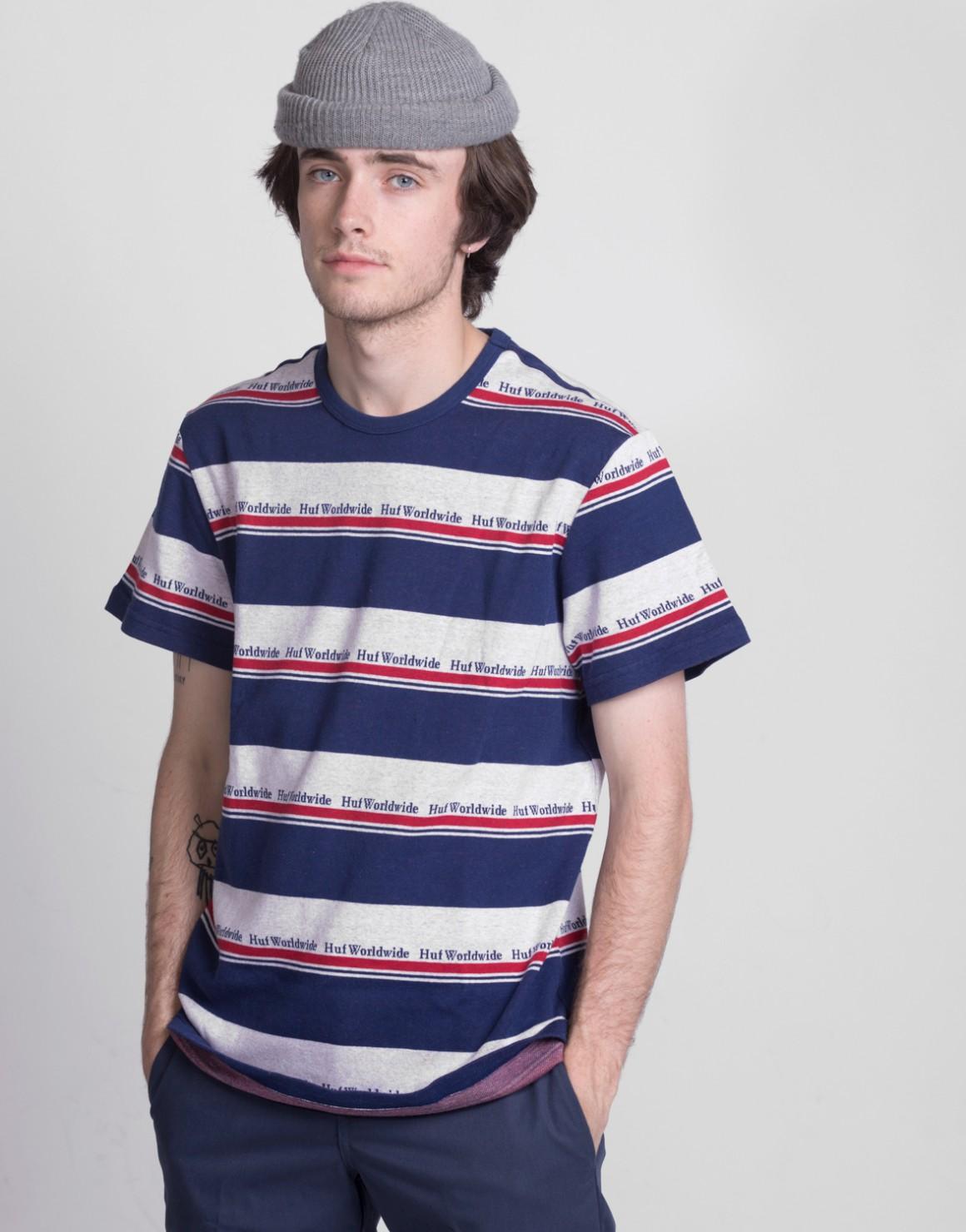 Worldwide Stripe SS Knit