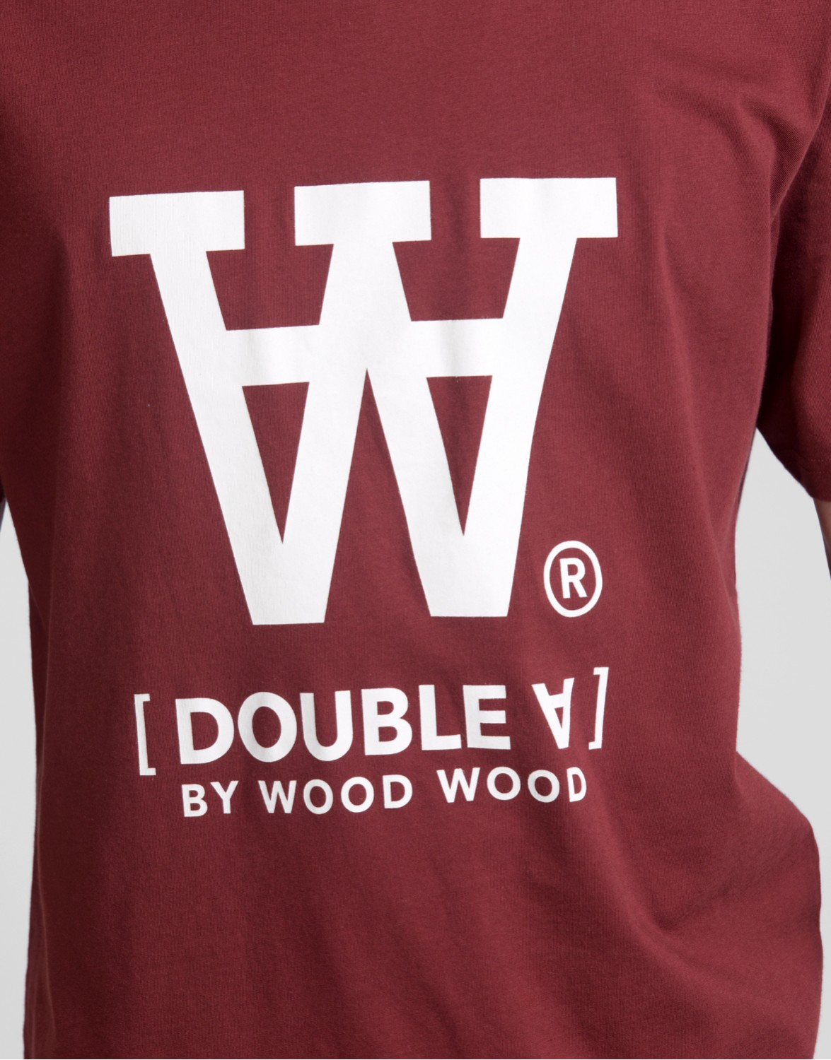 Wood Wood Ace T shirt DARK RED Prisgaranti hos Streetammo