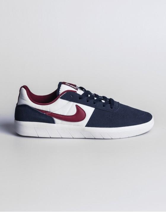 Nike SB Team Classic Navy, Obsidian Red & White Skate Shoes
