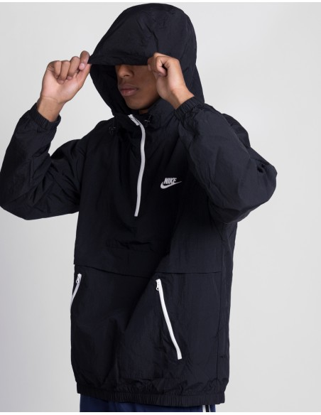 Woven Hooded Anorak Jacket