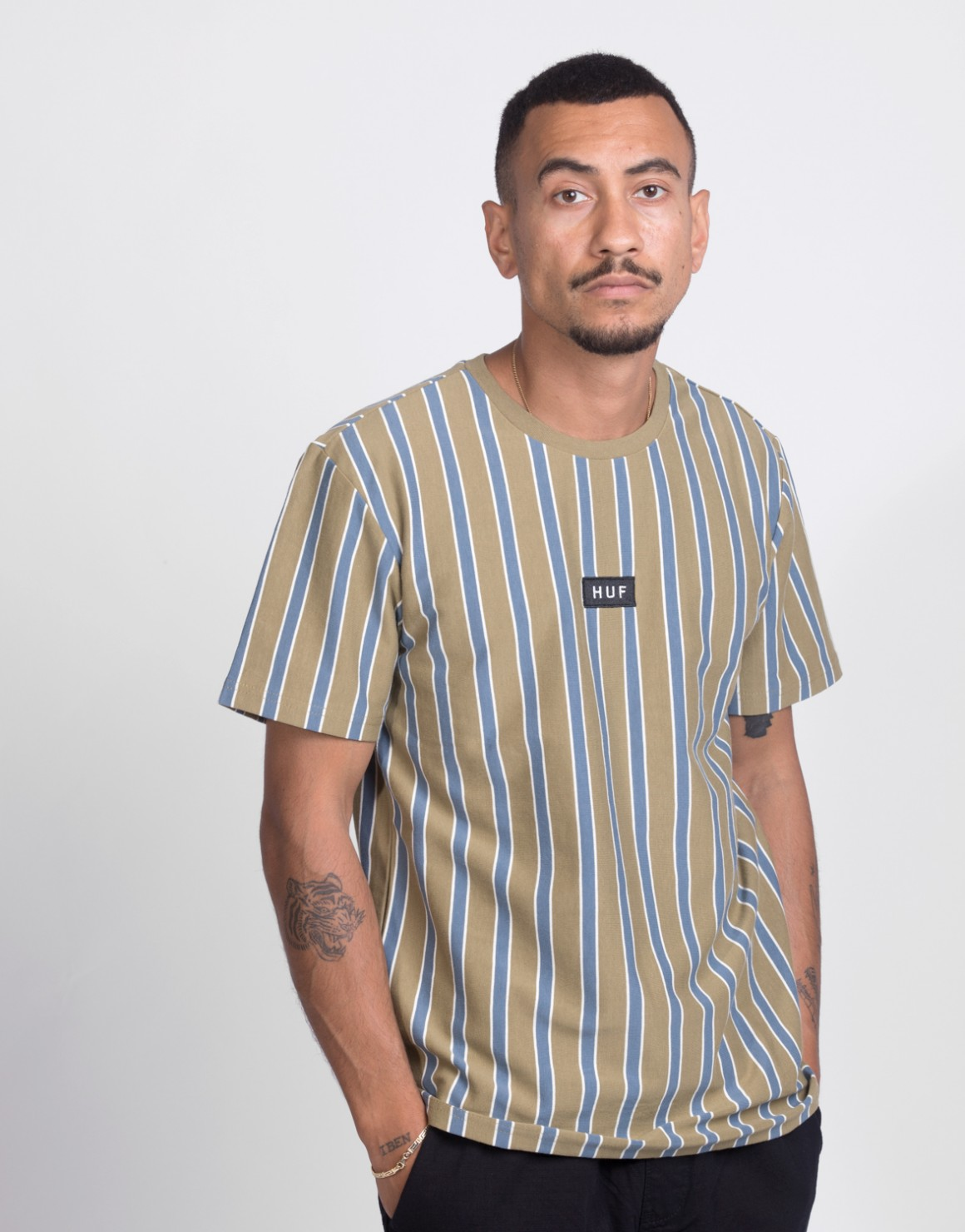 Image of   Dexter Stripe S/S Knit Top