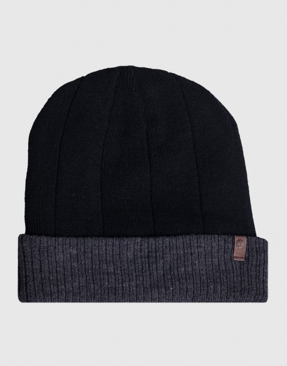 Ribbed Color Block Beanie
