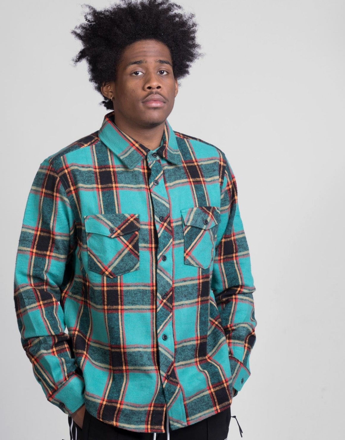 Image of   Ace Plaid LS Shirt