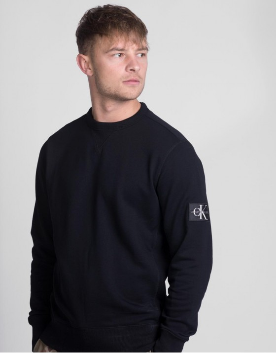 Monogram Sleeve Badge Crewneck