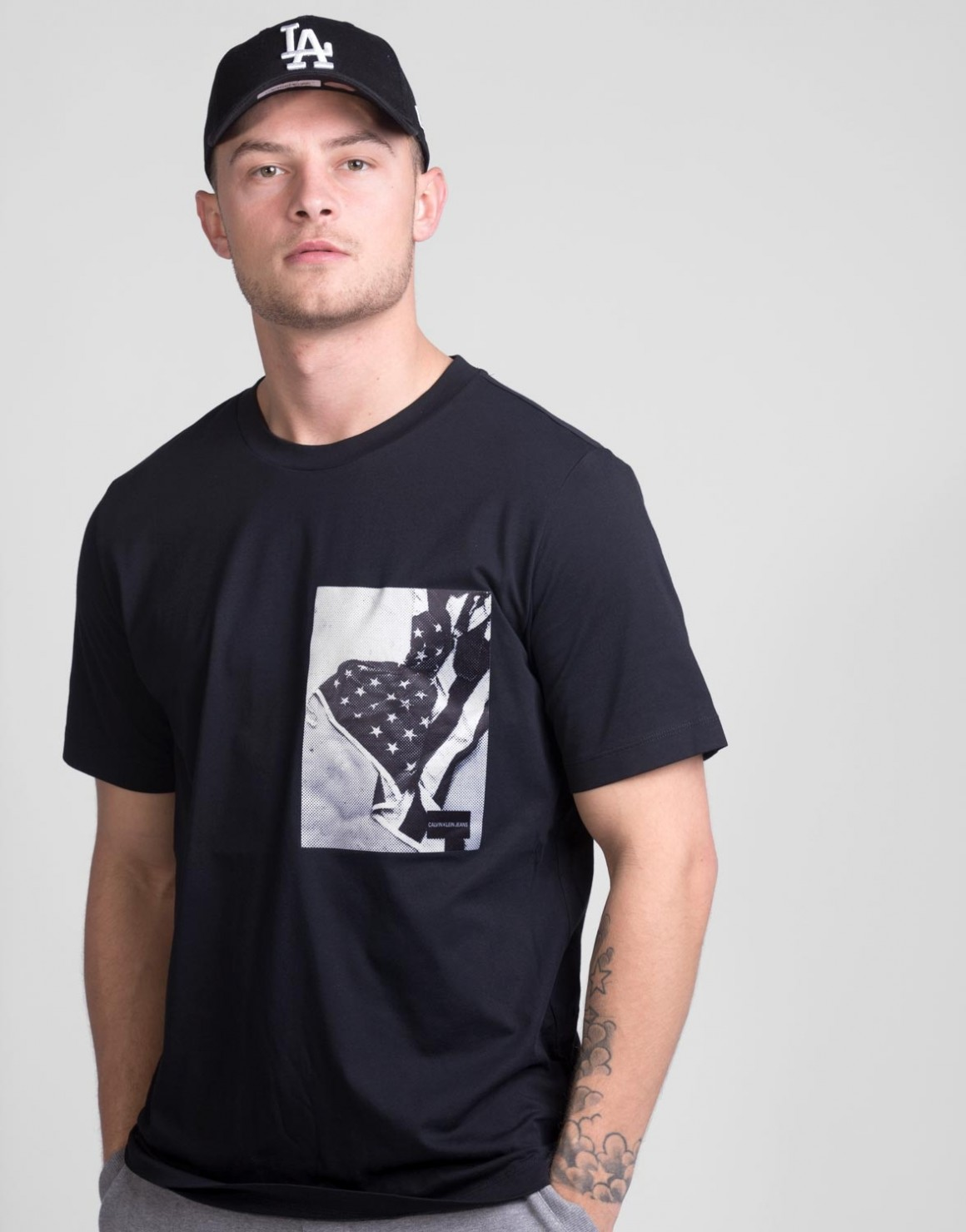 Image of   Chest Flag Satin Box Tee