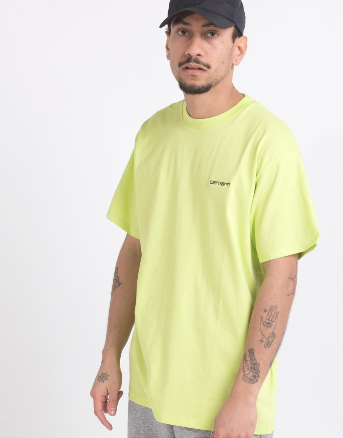Carhartt WIP SCRIPT EMBROIDERY - T-shirts basic - lime/black