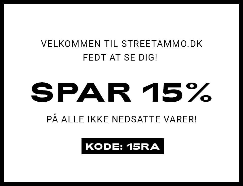 Spar 15% med rabatkoden: 15RA
